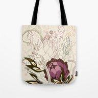Peach And Purple  Artich… Tote Bag