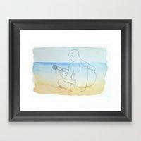 Summer Guitar Framed Art Print