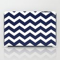 Chevron Navy Blue iPad Case