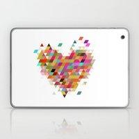 Heart1 White Laptop & iPad Skin