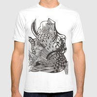 Abstract Vol 1 Mens Fitted Tee White SMALL