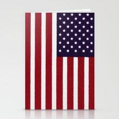 USA Flag - Painterly Imp… Stationery Cards