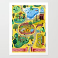 Art Print featuring Zoo by Ilana Exelby