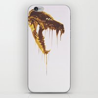 Painted Skull Gold iPhone & iPod Skin