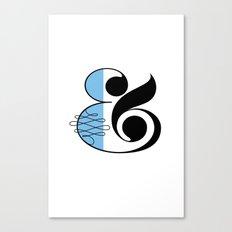Ampersand White Canvas Print