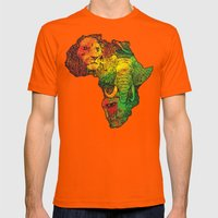 Africa Mens Fitted Tee Orange SMALL