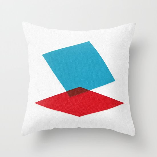 Anaglyph Throw Pillow