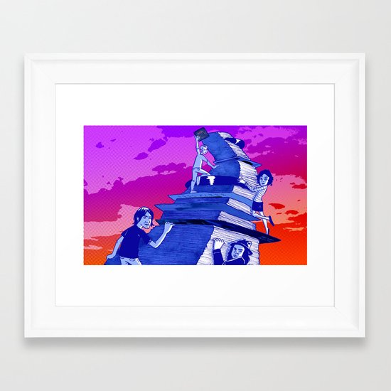 """Musicians Going Solo"" by Dmitri Jackson Framed Art Print"