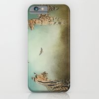 iPhone Cases featuring Watching the Waxwings by Jai Johnson