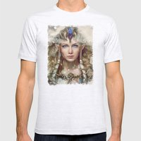 Epic Princess Zelda from Legend of Zelda Painting Mens Fitted Tee Ash Grey SMALL