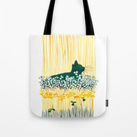 Clover Cat Tote Bag