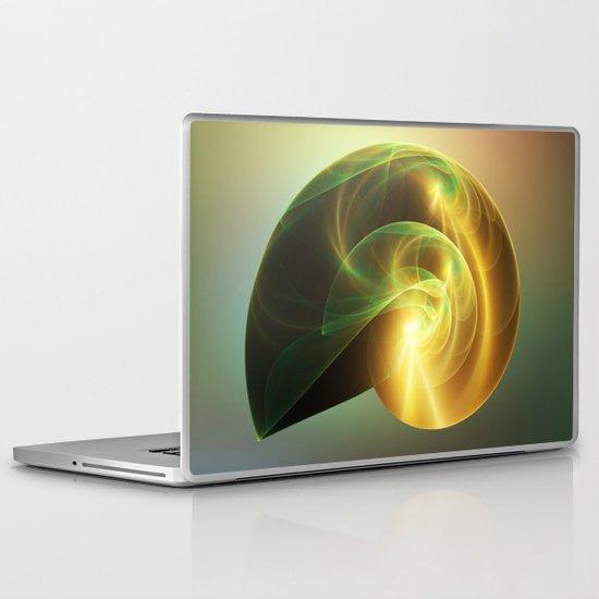 Golden Shell Laptop & iPad Skin
