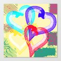 Love is colorful Canvas Print