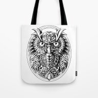 Tote Bag featuring Owl Portrait by BIOWORKZ