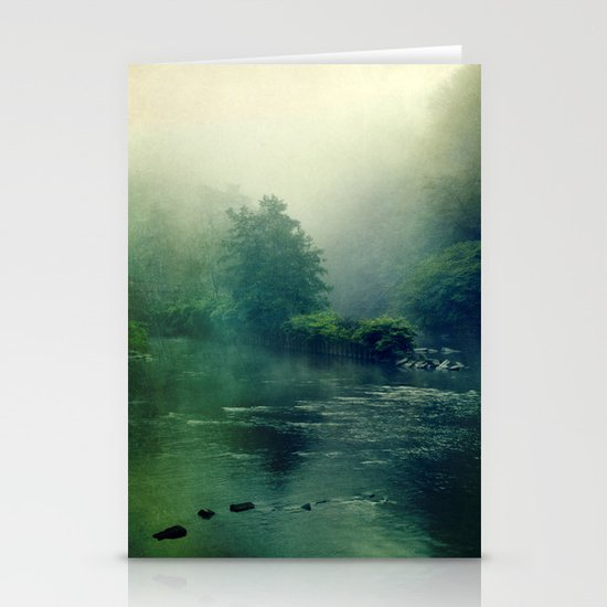 at the river Stationery Card