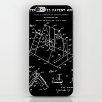 Playground Patent - Black iPhone & iPod Skin