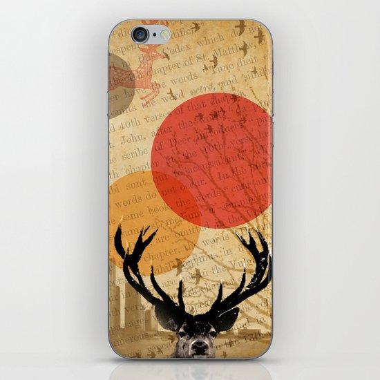 deer in the city iPhone & iPod Skin