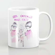Less Catcalls, More Cats Mug
