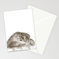 A Green Sea Turtle :: Earthtones Stationery Cards