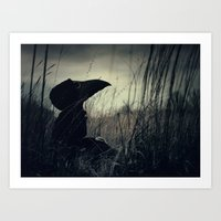 Thoughtful Plague Art Print