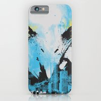 iPhone & iPod Case featuring Eagle Eye Watching - Blue by DesignLawrence