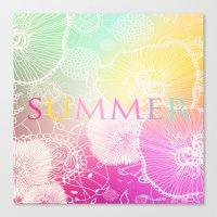 PRISMATIC SUMMER RAINBOW Canvas Print