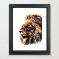 LionO Framed Art Print