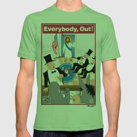 Everybody, Out! Mens Fitted Tee Grass SMALL