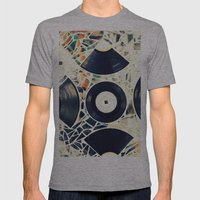Missing Pieces Mens Fitted Tee Athletic Grey SMALL
