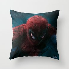 Spider-Man painting Throw Pillow