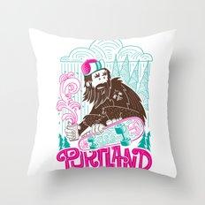 Portland Sasquatch  Throw Pillow