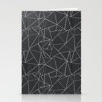 Ab 2 R Black and Grey Stationery Cards