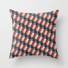 Retro style Texas state flag pattern Throw Pillow
