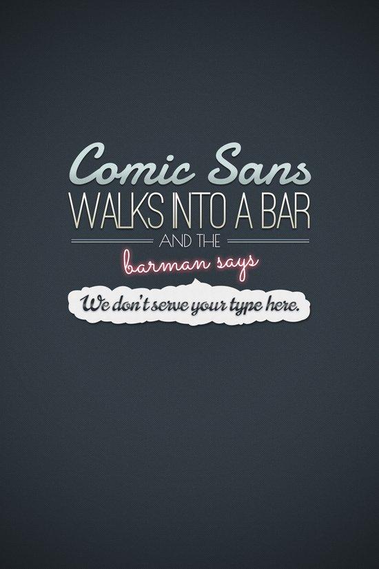 Poor Comic Sans Canvas Print