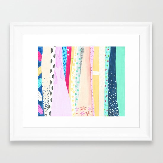 Dresses Framed Art Print
