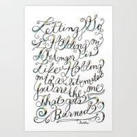 The Art Of Letting Go Art Print