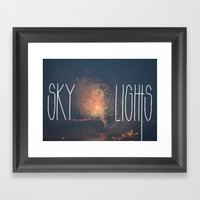 SKY LIGHTS Framed Art Print