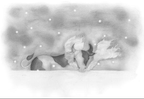 Cold Cow Canvas Print