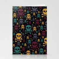 skulls Stationery Cards featuring Skulls by Alice Gosling