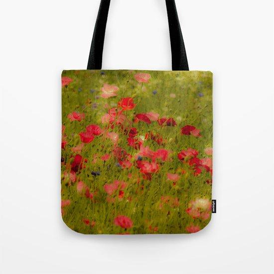 Deep Poppies Tote Bag