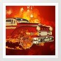 Red car Art Print