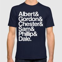 FBI Agents (Twin Peaks: … Mens Fitted Tee Navy SMALL