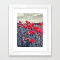 field of love Framed Art Print