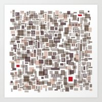Mapping Home 3 Art Print