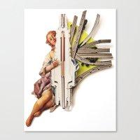Sparklette | Collage Canvas Print