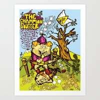 The Champion slugger Art Print