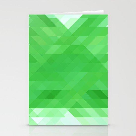 Green Geometrics Stationery Card