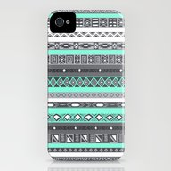 Tiffany Turquoise Aztec … iPhone (4, 4s) Slim Case