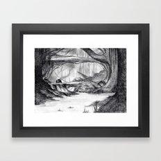 Dream view serie - Deep Forest Framed Art Print