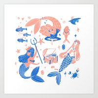 Ocean treasures Art Print